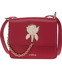 borsa donna a spalla shopping in pelle tuberosa mini