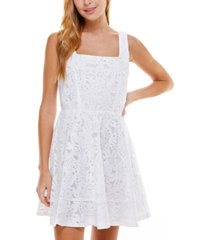 crystal doll juniors' floral lace dress