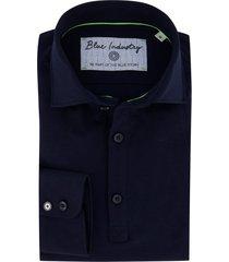 blue industry overhemd donkerblauw
