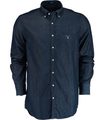 gant overhemd regular fit indigo 3040520/989