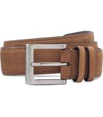men's allen edmonds wide leather belt, size 36 - tan
