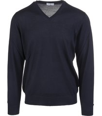 night blue v-neck man pullover