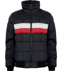 parka tommy hillfiger negro - calce regular