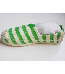 alpargatas sport con rayas verdes