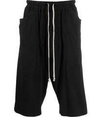 rick owens drkshdw drop-crotch casual shorts - black
