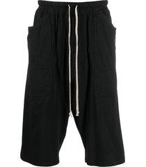 rick owens drkshdw drop-crotch casual shorts - black