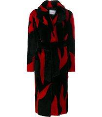 common leisure lovefire oversized longline coat - black
