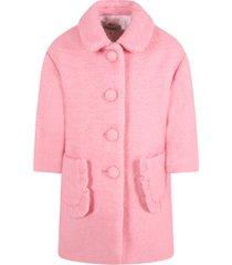 simonetta pink coat for girl