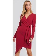 na-kd asymmetric hem mini dress - red