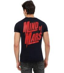 camiseta azul oscuro manpotsherd mars