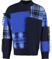 versace long sleeve crew-neck sweater