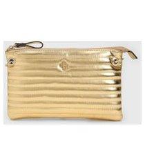 bolsa capodarte puffer dourada