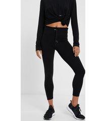 slim taffeta leggings - black - xl