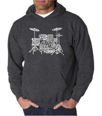 la pop art men's word art hoodie - drums