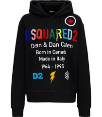 dsquared2 d2 rainbow jersey hoodie