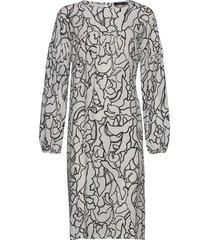 ladies dress, pikku iiris jurk knielengte multi/patroon nanso