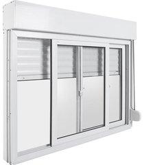 janela de pvc com persiana bazze design, 120 x 160 cm, branca