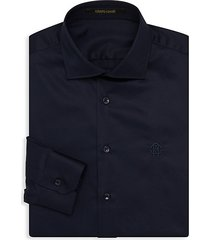 logo embroidered dress shirt