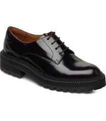 shoes 14717 snörade skor låga svart billi bi
