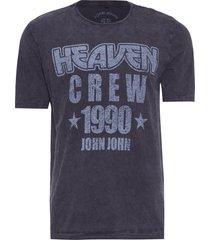 t-shirt masculina heaven crew - cinza