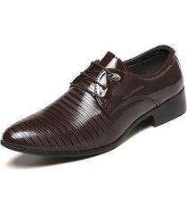 hombres zapatos de cuero para hombres zapatos formales oxford de charol