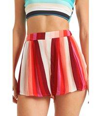 women's billabong la jupe shorts, size large - red