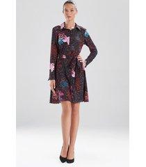 natori leopard orchid shirt dress, women's, size 10