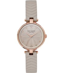 kate spade new york women's annadale gray quilted leather strap watch 30mm