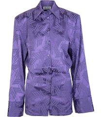 the attico purple gigi monogram mini dress