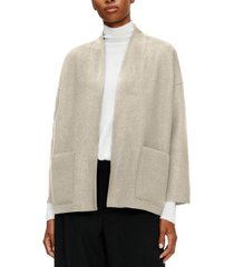 eileen fisher system high-collar wool jacket