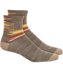 sun + stone men's green broken stripe socks