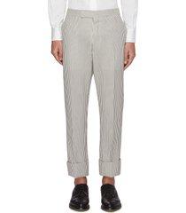 striped backstrap seersucker pants