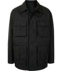 juun.j multi-pocket shirt jacket - black
