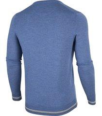 cavallaro cavallaro pullover vhals merino lichtblauw 1895005-61000 licht blauw