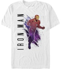 marvel men's avengers galaxy painted ironman short sleeve t-shirt