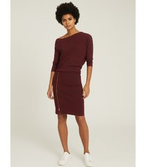 reiss cecilia - off-the-shoulder zip detail dress in berry, womens, size xl