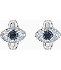gemelli unisex evil eye, multicolore, acciaio inossidabile