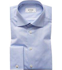 eton shirt dress bleu contemporary french cuff