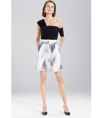 radiant texture shorts, women's, white, cotton, size 6, josie natori