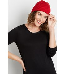 maurices womens red cuffed beanie