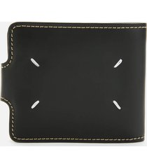 maison margiela men's clip leather wallet - black
