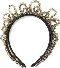 simone rocha beaded embellished headband - black