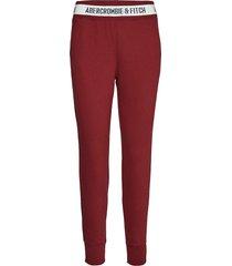 rib waist jogger sweatpants mjukisbyxor röd abercrombie & fitch