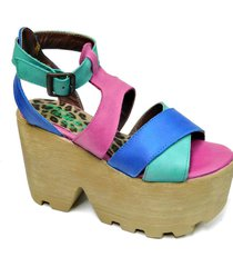sandalia de cuero fucsia tamara shoes