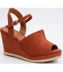 sandália feminina open boot plataforma cromic