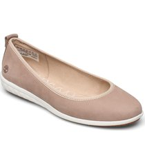 bradstreet ultra ballerina leather ballerinaskor ballerinas rosa timberland