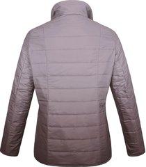 gewatteerde jas met lange mouwen en staande kraag van anna aura paars