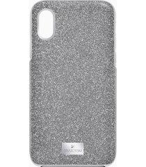 custodia per smartphone con bordi protettivi integrati high, iphoneâ® x/xs, grigio