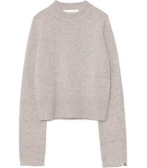cherie cashmere sweater in grey