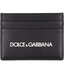 dolce & gabbana smooth leather card holder